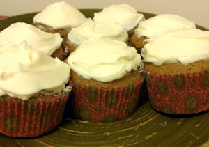 Homemade Pumpkin Cupcakes with Cream Cheese Frosting