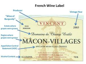 Wine Label Burgundy